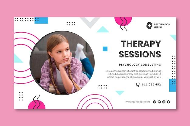Szablon banera sesji terapeutycznych