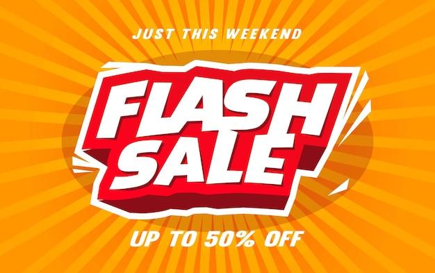 Szablon banera sprzedaży flash