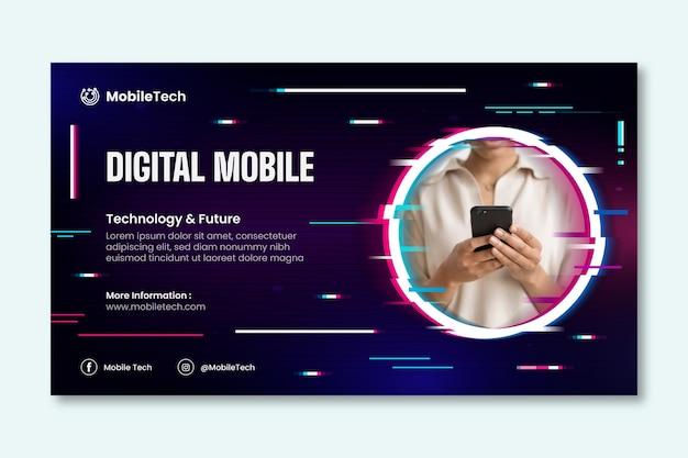 Szablon banera technologii mobilnej