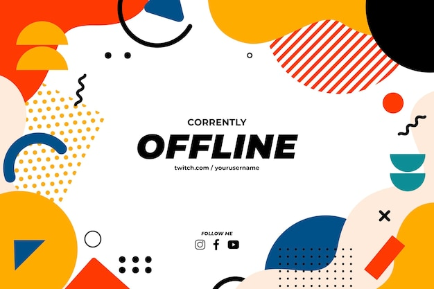 Szablon banera twitch offline