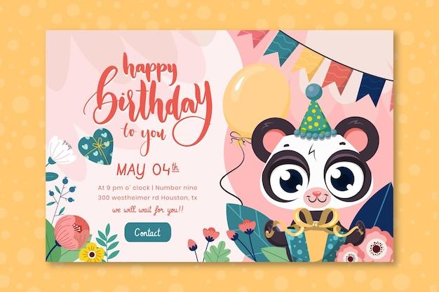 Szablon banera urodzinowego dla dzieci