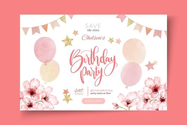 Szablon banera urodzinowego