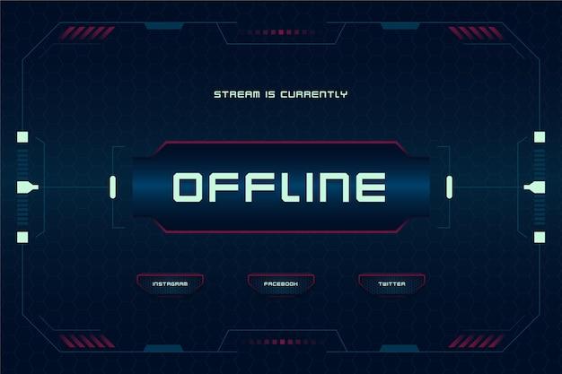 Szablon banera w stylu gracza twitch offline