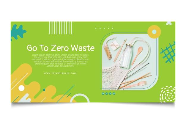 Szablon banera zero waste