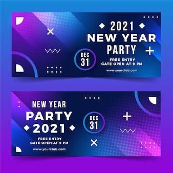 Szablon banerów imprezowych nowego roku 2021