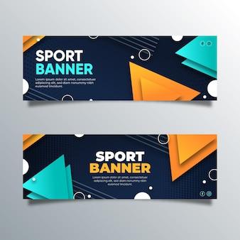 Szablon banerów sportowych gradientu