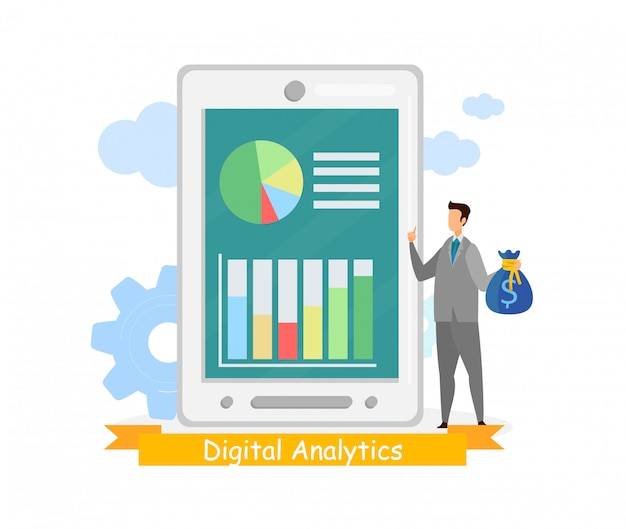 Szablon baneru internetowego business analytics