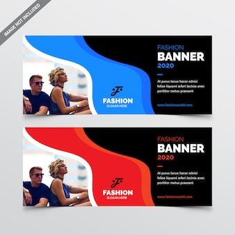 Szablon baneru internetowego mody