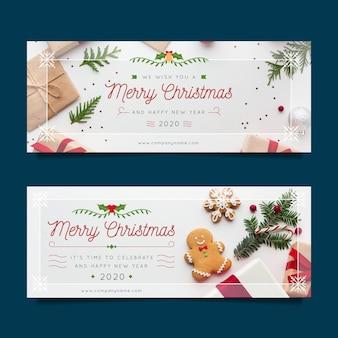 Szablon banery świąteczne ze zdjęciem