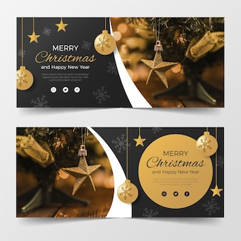 Szablon Banery świąteczne Premium Wektorów