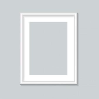 Szablon białej ramki na zdjęcia.