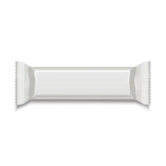 Szablon biały pusty słodki kij na przekąskę.