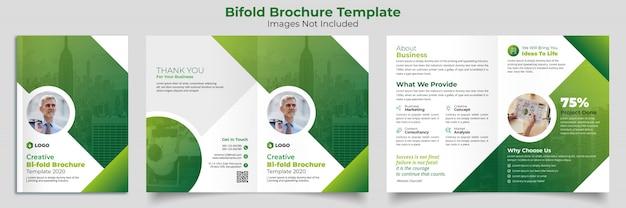 Szablon bifold broszura