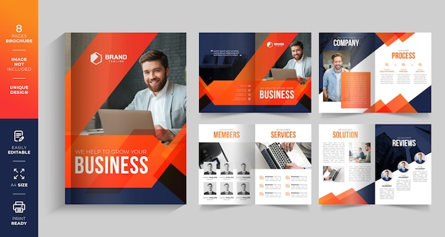 Szablon bifold business broszura