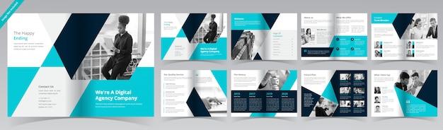 Szablon biznes broszura strony