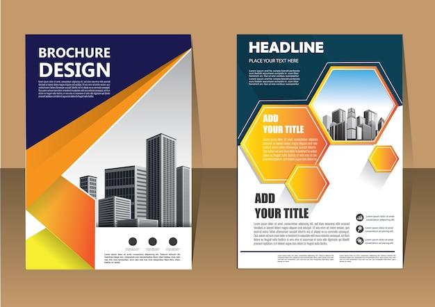 Szablon biznes broszura ulotki układ dla rocznego raportu