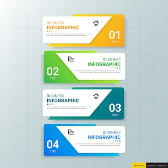 Szablon biznes infografika z czterema krokami