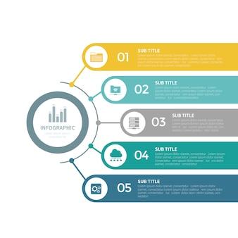 Szablon biznes infographic