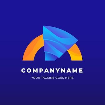 Szablon biznes streszczenie logo