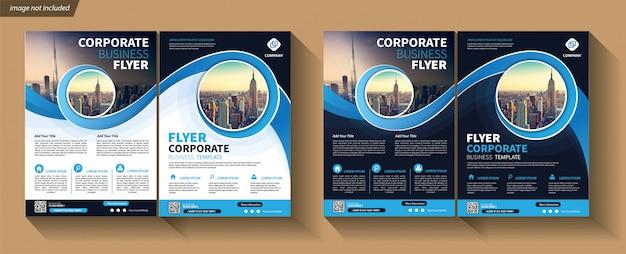 Szablon biznesowy dla ulotki korporacyjnej