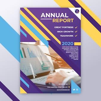 Szablon biznesowy z rocznym raportem