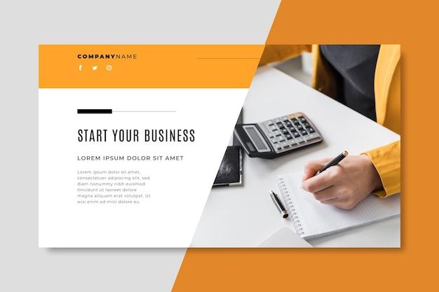 Szablon bloga baner biznesowy