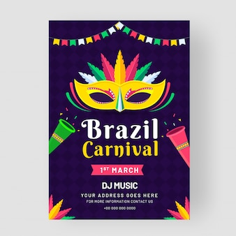 Szablon brazylijski karnawał.