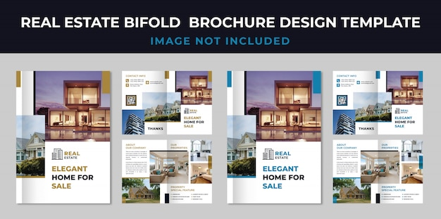 Szablon broszura bifold nieruchomości