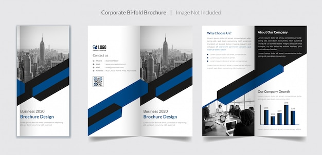 Szablon broszura biznes bifold