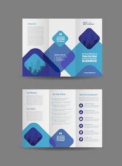 Szablon broszura biznes trifold