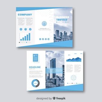 Szablon broszura biznesowa trifold