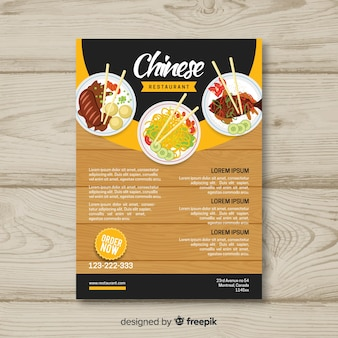 Szablon broszura chińskiej restauracji