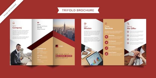 Szablon broszura firmowa trifold
