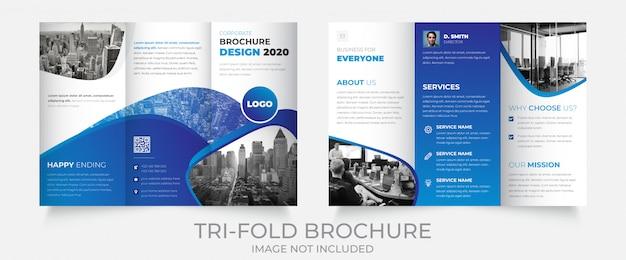 Szablon broszura firmy potrójne
