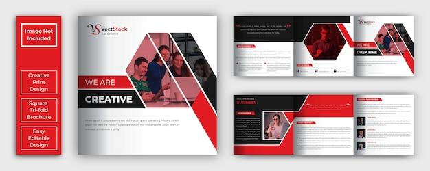 Szablon broszura korporacyjna kwadrat potrójny
