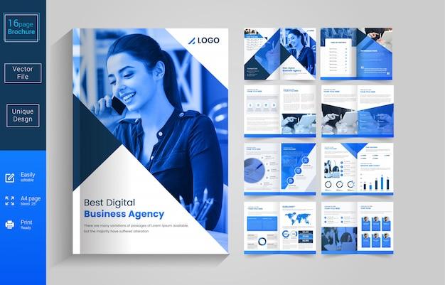 Szablon broszura kreatywnego biznesu
