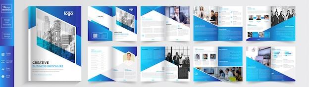 Szablon broszura kreatywnego biznesu. .