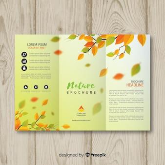 Szablon broszura natura Triflod