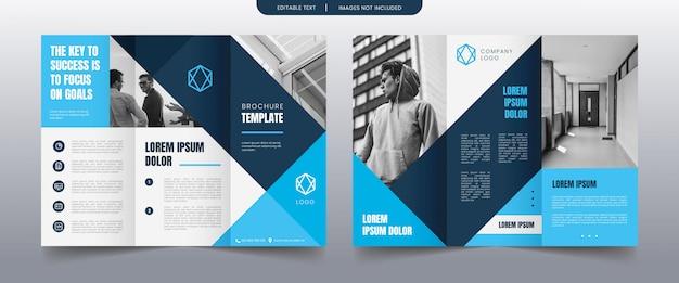 Szablon broszura nowoczesny potrójny biznes