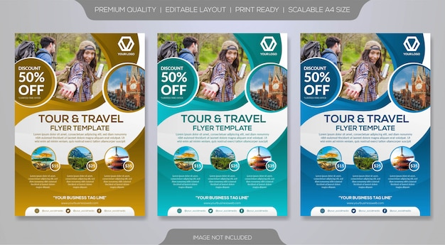 Szablon broszura podróży