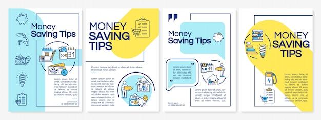 Szablon broszura porady dotyczące oszczędzania pieniędzy