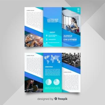 Szablon broszura rozdawać w siłowni