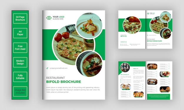 Szablon broszura składana w restauracji