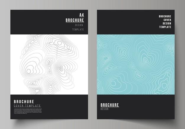Szablon broszura z abstrakcyjnych kształtów monochromatycznych