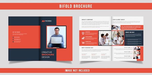 Szablon broszury biznesowej bifold