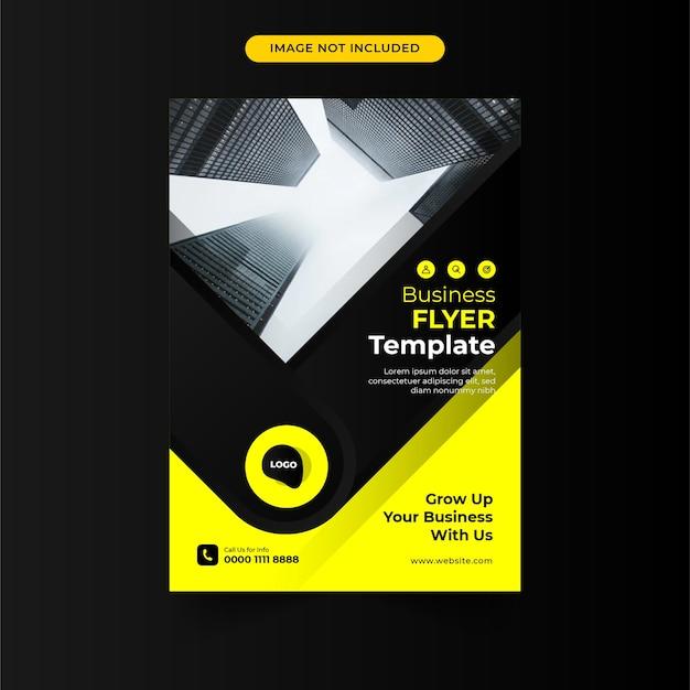 Szablon broszury biznesowej kolor żółty i czarny