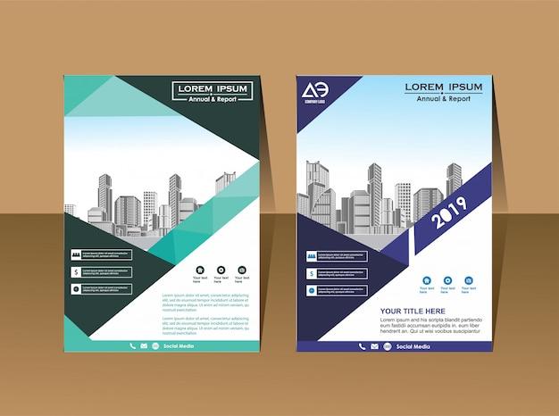 Szablon broszury biznesowej magazyn profilu firmy
