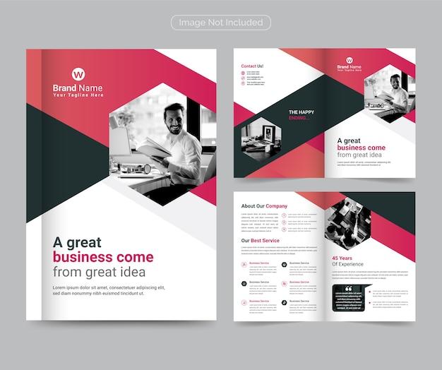 Szablon Broszury Biznesowej Modern & Professional Bifold Premium Wektorów