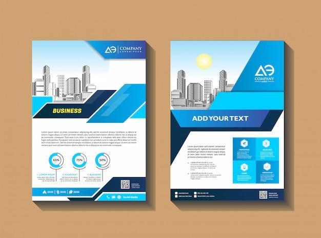 Szablon broszury biznesowej układ ulotki magazyn plakatowy raport roczny