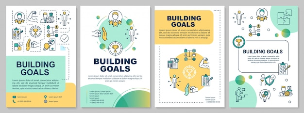 Szablon broszury celów budowania